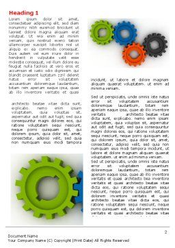 Colorful Gears Word Template, First Inner Page, 07191, Consulting — PoweredTemplate.com