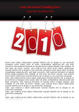 Year 2010 Theme Word Template, Cover Page, 07193, Holiday/Special Occasion — PoweredTemplate.com