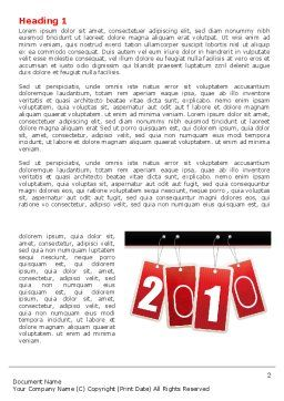 Year 2010 Theme Word Template, First Inner Page, 07193, Holiday/Special Occasion — PoweredTemplate.com