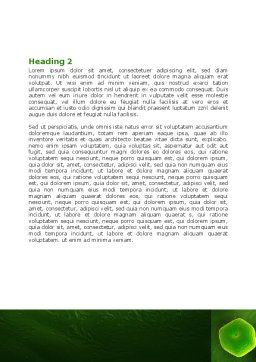 Acinetobacter Word Template, Second Inner Page, 07195, Technology, Science & Computers — PoweredTemplate.com