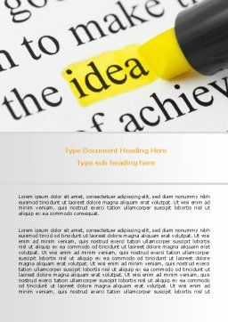 Highlighted Idea Word Template, Cover Page, 07196, Consulting — PoweredTemplate.com