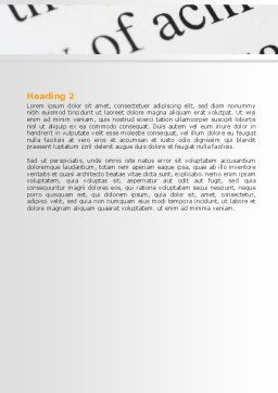 Highlighted Idea Word Template, Second Inner Page, 07196, Consulting — PoweredTemplate.com