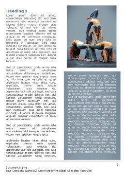 Acrobats Word Template First Inner Page