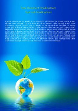 Fertile Earth Word Template Cover Page