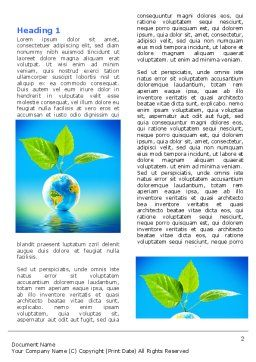 Fertile Earth Word Template First Inner Page