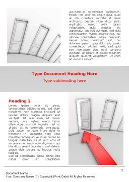Showing Way Out Word Template, First Inner Page, 07200, Consulting — PoweredTemplate.com