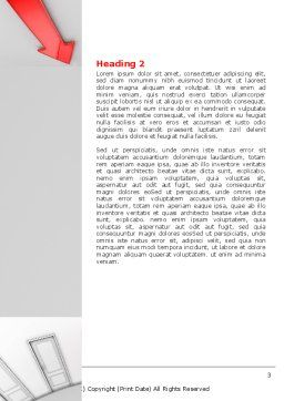 Showing Way Out Word Template, Second Inner Page, 07200, Consulting — PoweredTemplate.com