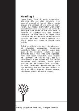 Manipulation Word Template, Second Inner Page, 07201, Consulting — PoweredTemplate.com