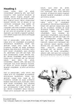 Artificial Skeleton Word Template, First Inner Page, 07205, Technology, Science & Computers — PoweredTemplate.com