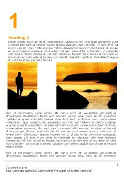 Sunset Beach Word Template First Inner Page
