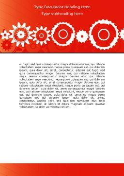 Geared Red Word Template, Cover Page, 07212, Consulting — PoweredTemplate.com