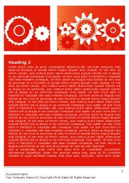 Geared Red Word Template, First Inner Page, 07212, Consulting — PoweredTemplate.com