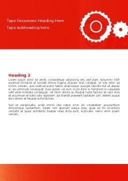 Geared Red Word Template, Second Inner Page, 07212, Consulting — PoweredTemplate.com