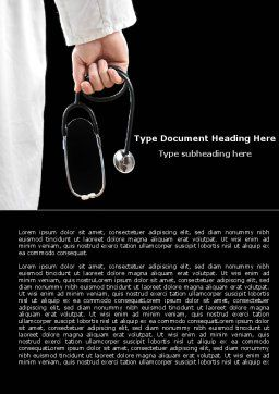 Medical Word Template, Cover Page, 07213, Medical — PoweredTemplate.com