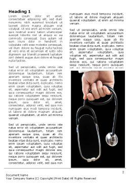 Medical Word Template, First Inner Page, 07213, Medical — PoweredTemplate.com