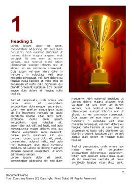 Gold Cup Word Template, First Inner Page, 07215, Business Concepts — PoweredTemplate.com