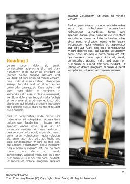 Paper Clip Word Template, First Inner Page, 07216, Business Concepts — PoweredTemplate.com