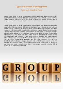 Group Word Template, Cover Page, 07217, Business — PoweredTemplate.com