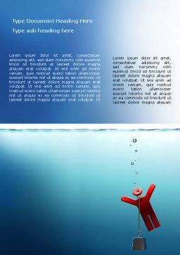 Drowner Man Word Template, Cover Page, 07218, Consulting — PoweredTemplate.com
