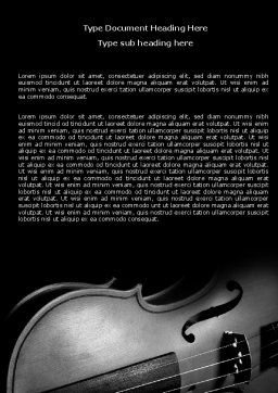 Dark Violin Word Template, Cover Page, 07219, Art & Entertainment — PoweredTemplate.com