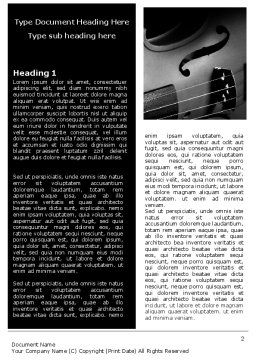 Dark Violin Word Template First Inner Page