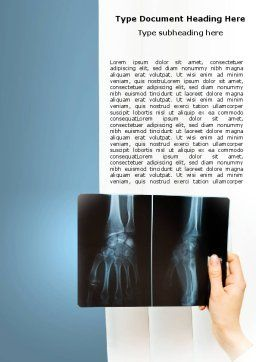 X-Ray Photography Word Template, Cover Page, 07221, Medical — PoweredTemplate.com