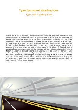 Tunnel Road Word Template, Cover Page, 07222, Construction — PoweredTemplate.com