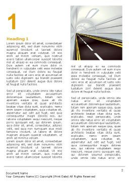Tunnel Road Word Template, First Inner Page, 07222, Construction — PoweredTemplate.com