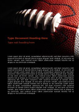 American Ball Lacing Word Template, Cover Page, 07239, Sports — PoweredTemplate.com