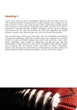 American Ball Lacing Word Template, Second Inner Page, 07239, Sports — PoweredTemplate.com