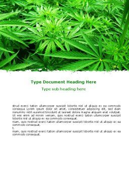 Cannabis Word Template, Cover Page, 07243, Legal — PoweredTemplate.com