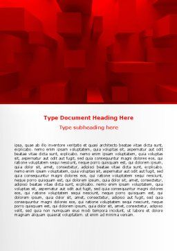 Red 3D Figures Word Template, Cover Page, 07244, 3D — PoweredTemplate.com