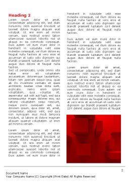 Red 3D Figures Word Template, First Inner Page, 07244, 3D — PoweredTemplate.com