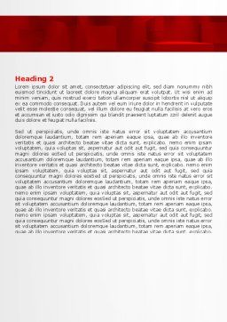 Red 3D Figures Word Template, Second Inner Page, 07244, 3D — PoweredTemplate.com