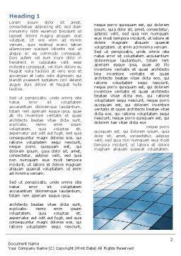 Hi-Tech Building Word Template, First Inner Page, 07251, Construction — PoweredTemplate.com