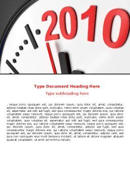 Time of 2012 Word Template, Cover Page, 07252, Holiday/Special Occasion — PoweredTemplate.com