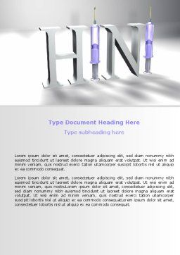 H1N1 Word Template, Cover Page, 07262, Medical — PoweredTemplate.com