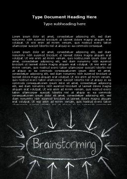 Brainstorming Word Template, Cover Page, 07268, Business — PoweredTemplate.com
