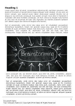 Brainstorming Word Template, First Inner Page, 07268, Business — PoweredTemplate.com