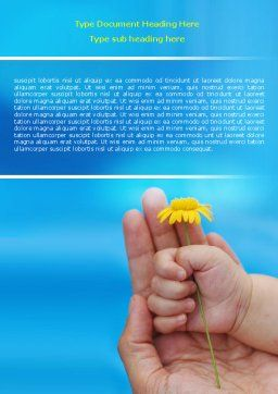 Little Hand Word Template, Cover Page, 07269, Religious/Spiritual — PoweredTemplate.com