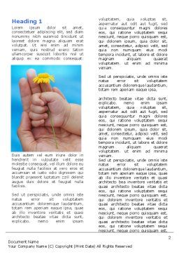 Little Hand Word Template, First Inner Page, 07269, Religious/Spiritual — PoweredTemplate.com