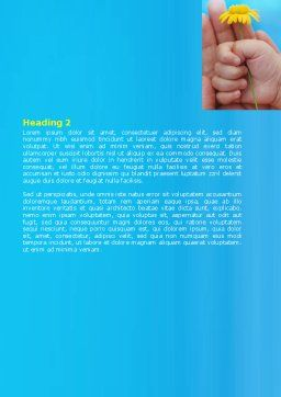 Little Hand Word Template, Second Inner Page, 07269, Religious/Spiritual — PoweredTemplate.com