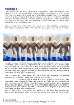 Peoples Unity Word Template, First Inner Page, 07271, Consulting — PoweredTemplate.com