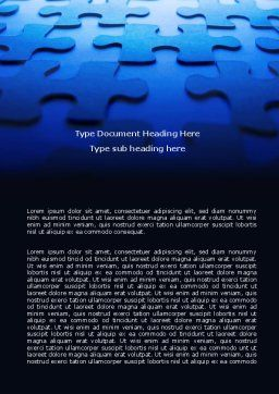 Blue Mind Breaker Word Template, Cover Page, 07272, Business — PoweredTemplate.com