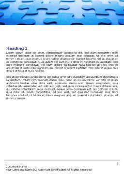 Blue Mind Breaker Word Template, Second Inner Page, 07272, Business — PoweredTemplate.com