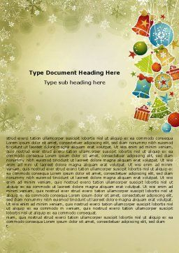 Christmas Holiday Theme Word Template, Cover Page, 07273, Holiday/Special Occasion — PoweredTemplate.com
