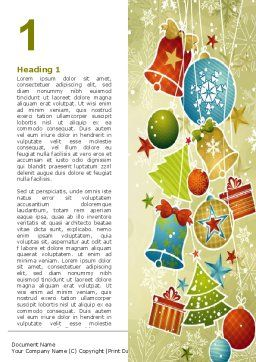 Christmas Holiday Theme Word Template, First Inner Page, 07273, Holiday/Special Occasion — PoweredTemplate.com