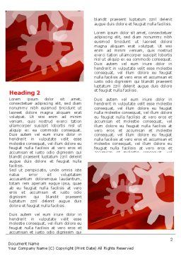 Red Gears Word Template, First Inner Page, 07275, Consulting — PoweredTemplate.com