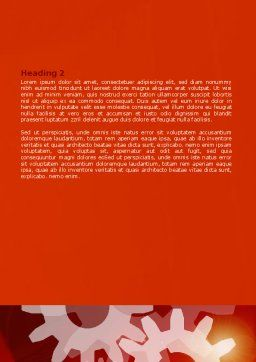 Red Gears Word Template, Second Inner Page, 07275, Consulting — PoweredTemplate.com