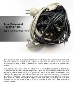 Cable Knot Word Template, Cover Page, 07277, Technology, Science & Computers — PoweredTemplate.com